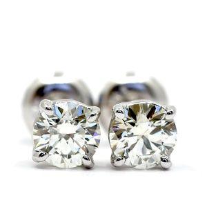 Diamonds Studs 0.81 Carat 14k White Gold GIA Certi